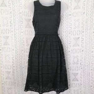 4/$30 Black Lunik Fit & Flare Dress